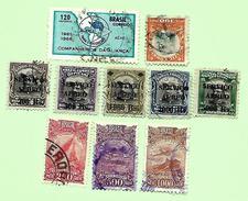 1766 ~   BRESIL - Poste Aérienne + Service ~~ Lot De Timbres  Oblitérés - Brésil
