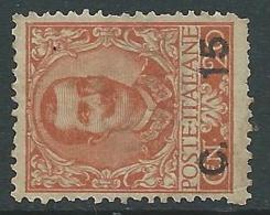 1905 REGNO FLOREALE SOPRASTAMPATO 15 SU 20 CENT SENZA GOMMA - CZ17-7 - Ungebraucht