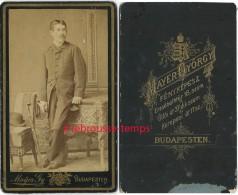 Hongrie-CDV Portrait D´un Homme élégant-photo Mayer Gyorgy-BUDAPESTEN - Ancianas (antes De 1900)