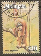 Malaysia  1979 SG 197  £10 Pongo Pygmaeus Fine Used - Malaysia (1964-...)