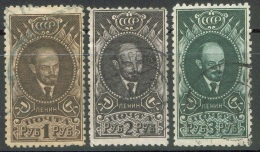 Russia / USSR, 1926, Scott# 342-344, Michel# 308 A Y-310 A Y, V. I. Lenin, Wml, Perf 10 1/2, Full Set, Cancelled, CTO