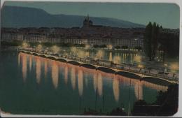 Geneve Genf De Nuit In Der Nacht - Photo: Jullien Freres No.3123 - GE Genève