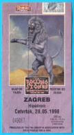 THE ROLLING STONES - Bridges To Babylon Tour '97-98. * 1998. Croatian Concert Ticket Billet Biglietto Boleto - Biglietti Per Concerti