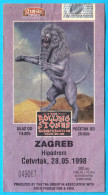 THE ROLLING STONES - Bridges To Babylon Tour '97-98. * 1998. Croatian Concert Ticket Billet Biglietto Boleto - Concert Tickets