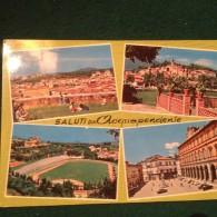 Cartolina Saluti Da Acquapendente Viterbo Stadio Viaggiata - Viterbo