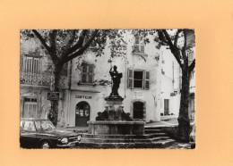 CPA - En Provence à BELGENTIER - D83 - Place Edouard Granet La Fontaine - France