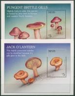 Nevis 2001 Pilze: Ölbaumpilz, Täubling Block 201/02 Postfrisch (C71657) - Briefmarken