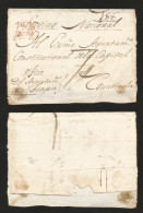 G)1800 MEXICO, COLONIAL MAIL, CIUDAD REAL RED CANC., RATED 74, CIRCULATED COVER FROM CHIAPAS TO GUATEMALA, XF - Mexico