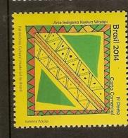 Brazil ** & World Intangible Heritage, Indigenous Art, Kusiwa Wajãpi 2014 (6545) - Brasile
