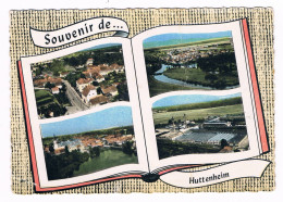 HUTTENHEIM  67  Souvenir Avec 4 Vue Aerienne   . - France