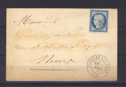 FRX 696  -  France  :  Yv  60  (o)   GC   2998  Pougues Les Eaux - 1849-1876: Classic Period