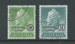 Christmas Island 1958 QEII Definitives 50c & $1 High Values FU - Christmas Island