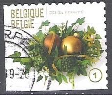 Belgique 2009 COB 3981B O Cote (2016) 2.80 Euro Décoration De Noël Cachet Rond - Gebraucht