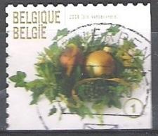 Belgique 2009 COB 3981C O Cote (2016) 2.80 Euro Décoration De Noël Cachet Rond - Gebraucht