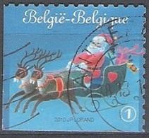 Belgique 2010 COB 4087B O Cote (2016) 2.90 Euro Père Noël Avec Traîneau Cachet Rond - Belgien