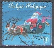 Belgique 2010 COB 4087C O Cote (2016) 2.90 Euro Père Noël Avec Traîneau Cachet Rond - Belgien