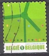 Belgique 2009 COB 3912 O Cote (2016) 1.70 Euro Iniatives écologiques Eolienne - Belgien