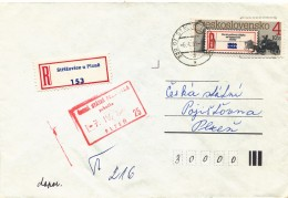 K9274 - Czechoslovakia (1989) 332 07 Strizovice U Plzne (R-letter) Tariff: 4 Kcs (stamp: 100 Years Recommended Label)