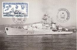 TAAF - Carte Maximum Du 01.02.1980 - Commandant BOURDAIS - Autres