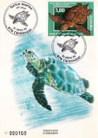 MAYOTTE - Carte Maximum Numérotée Du 31.01.1998 - TORTUE MARINE - RARE - Mayotte (1892-2011)