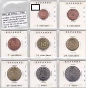 Spain - Set Of Pattern Euro Coins UNC - Spain