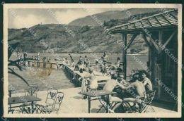 Trento Lago Di Caldonazzo PIEGHE SCOLLATA ABRASA Cartolina QZ9472 - Trento