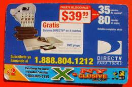 Télécarte Phonecard Telefonkarten - DIRECT TV - - Telefoonkaarten