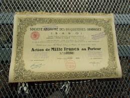 BRIQUETERIES ORANAISES (1932) ALGERIE - Shareholdings