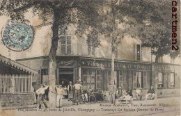 CHAMPIGNY-SUR-MARNE MAISON PERRAULT RESTAURANT BILLARD 41 ROUTE DE JOINVILLE DEVANTURE CAFE BAR - Champigny Sur Marne
