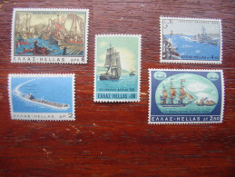 GREECE 1969 GREECE AND SEA ISSUE FIVE Stamps To 6D MNH COMPLETE Set. - Greece