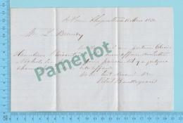 1856 Payer Au Porteur , St Jean Chrysostome Demande à M L. Beaudry Greffier Par  M. Vital Bergeron -2 Scans - Documents Historiques