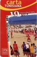@+ Tunisie - Carte Tunisiana - Beach-Volley - 10 Dinars