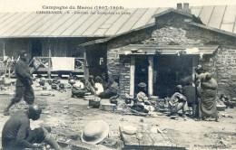 Mitaria - Campagne Du Maroc (1907-1908) - Casablanca - Cuisine Des Sénégalais Au Camp - Casablanca
