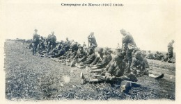 Mitaria - Campagne Du Maroc (1907-1908) - Casablanca - Dans Le Bled - Une Halte De Sénégalais - Casablanca