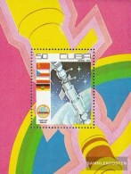 Cuba Block58 (complete.issue.) Fine Used / Cancelled  1979 Day The World Space - Blocks & Sheetlets