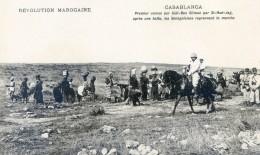 Mitaria - Revolution Marocaine - Casablanca -Premier Convoi Sur Sidi Ben Sliman Par Si-had-jag - Apres Halte - Casablanca