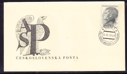 Czechoslovakia 1949 - 2k Puskin (Poet) First Day Cover -Unaddressed - Czechoslovakia