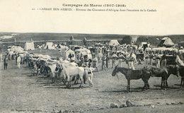 Militaria - Campagne Du Maroc 1907- 1909- Casbah Ben Ahmed - Bivouac Des Chasseurs D'afrique Dans Casbah - Casablanca
