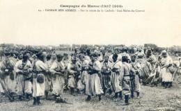 Militaria - Campagne Du Maroc 1907- 1909- Casbah Ben Ahmet - Sur La Route Une Halte Du Convoi - Casablanca