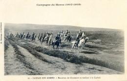 Militaria - Campagne Du Maroc 1907- 1909- Casbah Ben Ahmed - Un Convoi En Route - Casablanca