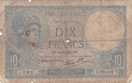 France - Billet De 10 Francs Type Minerve - 5 Octobre 1939 - 1871-1952 Circulated During XXth