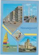 Grote Kaart Nieuwpoort Groeten Uit Stempel Obliteration Lighthouse Phare Vuurtoren Stamp - Nieuwpoort