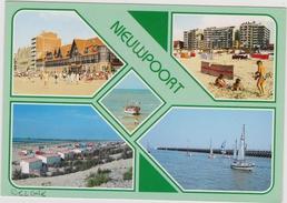 Grote Kaart Nieuwpoort Groeten Uit Stempel Obliteration Lighthouse Phare Vuurtoren Stamp 1991 - Nieuwpoort