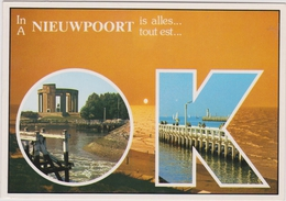 Grote Kaart Nieuwpoort Groeten Uit Stempel Obliteration Lighthouse Phare Vuurtoren Stamp 1997 - Nieuwpoort