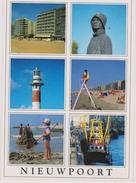 Grote Kaart Nieuwpoort Groeten Uit Stempel Obliteration Lighthouse Phare Vuurtoren Stamp 1998 - Nieuwpoort