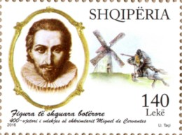 Albania Stamp 2016. Miguel De Cervantes. Don Quixote. Distinguished International Personalities. Set MNH - Albanië