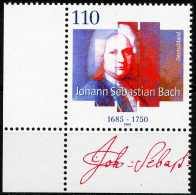 A12-04-3) BRD - Mi 2126 ECKE LU - ** Postfrisch (A) - 110Pf   Johann Sebastian Bach - Unused Stamps