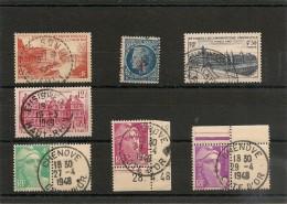 FRANCE  1947/48 Belles Oblitérations N° Y&T : 781/82-791-803-806/07-811