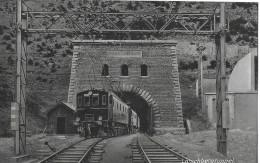 LÖTSCHBERGBAHN → Bern-Lötschberg-Simplon-Bahn Passiert Den Tunnelausgang, Ca.1910 - VS Wallis