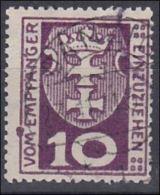 4102x: Plattenfehler Farbfleck Im Linken Rahmen Auf Danzig Porto 1 - Dantzig